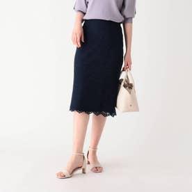 リーフレースタイトスカート【WEB限定サイズ】 (ネイビー)
