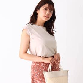 シルケットコットン 刺繍フレンチプルオーバー【WEB限定サイズ】 (ベージュ)
