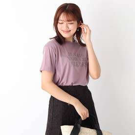 コットン混ロゴTシャツ【WEB限定サイズ】 (パープル)