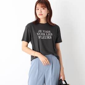 コットン混ロゴTシャツ【WEB限定サイズ】 (ガンメタリック)