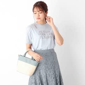 コットン混ロゴTシャツ【WEB限定サイズ】 (サックス)