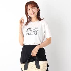 コットン混ロゴTシャツ【WEB限定サイズ】 (ホワイト)