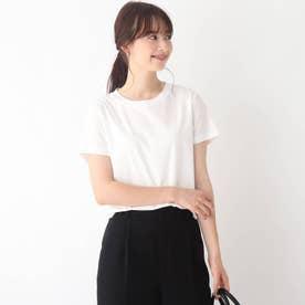 コットンシルケットバックバーTシャツ【WEB限定サイズ】 (ホワイト)
