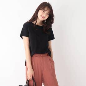 コットンシルケットバックバーTシャツ【WEB限定サイズ】 (ブラック)