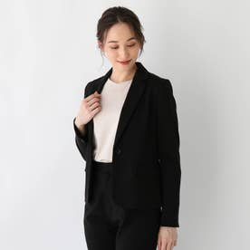 DELEGANT ポンチテーラードジャケット【WEB限定サイズ】 (ブラック)