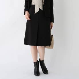 DELEGANT フロントボックスプリーツスカート【WEB限定アイテム】 (ブラック)