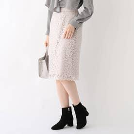 ポンチ裏アラベスクレースタイトスカート【WEB限定サイズ】 (ライトグレー)
