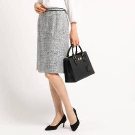 [S]【ママスーツ/入学式 スーツ/卒業式 スーツ】ネオブライトツイードタイトスカート (ブラック)
