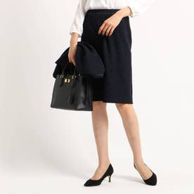 【ママスーツ/入学式 スーツ/卒業式 スーツ】ネオブライトツイードタイトスカート (ネイビー)