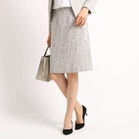 [L]【ママスーツ/入学式 スーツ/卒業式 スーツ】ネオブライトツイードタイトスカート (ベビーピンク)