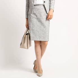 【ママスーツ/入学式 スーツ/卒業式 スーツ】ツィーディージャージタイトスカート (ホワイト)