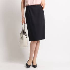 【ハンドウォッシュ】麻混ライトタイトスカート (ブラック)