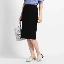 【マシンウォッシュ】ストレッチタイトスカート (ブラック)