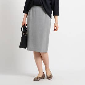 [S]【マシンウォッシュ】ストレッチタイトスカート (ライトグレー)
