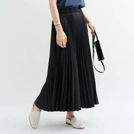 【ハンドウォッシュ】レザーライクプリーツスカート (ブラック)