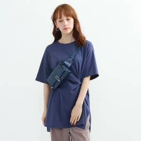 【ハンドウォッシュ】ねじりチュニックカットソー (ブルー)