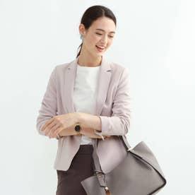 [L]【マシンウォッシュ/UV】ハイストレッチ テーラードジャケット (ベビーピンク)