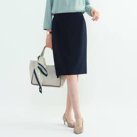 [L]【マシンウォッシュ/UV】ハイストレッチタイトスカート (ネイビー)