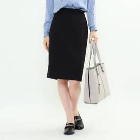 [L]【マシンウォッシュ】トリアセウールスカート (ブラック)
