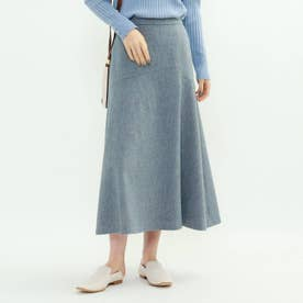 メランジツイードマーメイドスカート (ライトブルー)