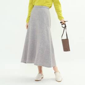 メランジツイードマーメイドスカート (ライトグレー)
