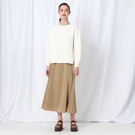 【WEB限定】レオパジャカードサス付きスカート (キャメル)