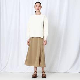 「S」【WEB限定】 レオパジャカードサス付きスカート (キャメル)
