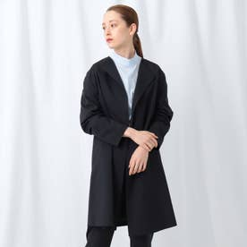 「S」【WEB限定】スパンライクノーカラーコート (ブラック)