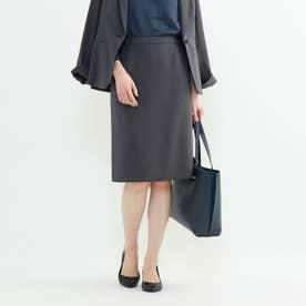 「S」エレコフ ストレートタイトスカート (チャコールグレー)