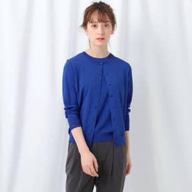 【WEB限定/2点セット】クルーネックアンサンブルニット (ブルー)