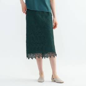 「S」スカラリーフタイトスカート (グリーン)