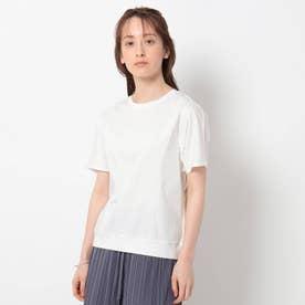 「L」【洗える/UVケア/接触冷感】ドルマンスリーブカットソー (ホワイト)