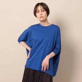 「L」【洗える/リラクシー】ヘムラインカットソー (ブルー)