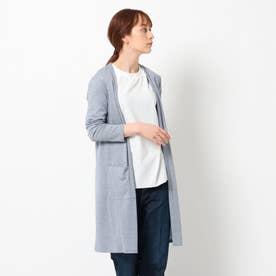 【UVケア/接触冷感】ロングカーディガン (ブルー)