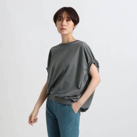 【洗える/日本製】ドルマンフォルムトップス (グレー)