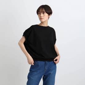 【洗える/日本製】ドルマンフォルムトップス (ブラック)