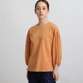 コンシャスシアースリーブカットソー (オレンジ)