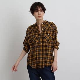 【2WAY】オータムチェックシャツ (マスタード)