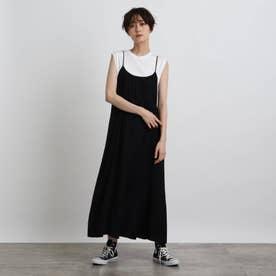 【洗える】ヴィンテージキャミドレス (ブラック)