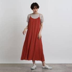 【洗える】ヴィンテージキャミドレス (レンガ)
