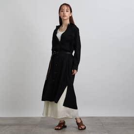 【洗える】ヴィンテージシャツワンピース (ブラック)