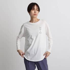 【otonaMUSE掲載予定商品】シャツテールカット ロゴプリントロンT (ホワイト)