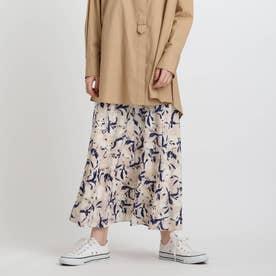 フラワープリントスカート (ナチュラル)