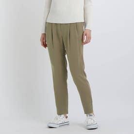 【褒められパンツ/洗える】STYLE UP PANTS タックテーパード (タバコブラウン)