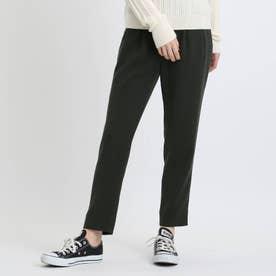 【褒められパンツ/洗える】STYLE UP PANTS タックテーパード (チャコールグレー)