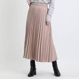 フェイクスエードプリーツスカート (ピンク)