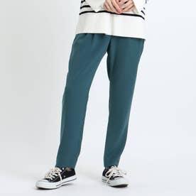 【褒められパンツ/洗える】STYLE UP PANTS タックテーパード (グリーン)
