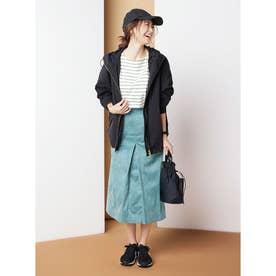 フェイクスエードボックススカート《KOMASUEDE》 (ブルーグリーン)