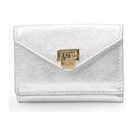 【新色追加】薄型3つ折財布 (シルバー)