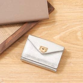 薄型三つ折り財布 (シルバー)
